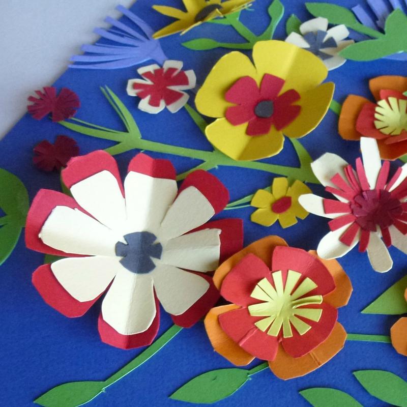 bouquet fleurs papier 3