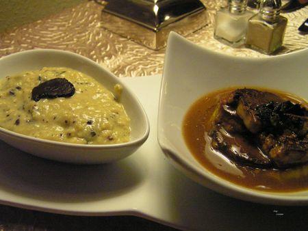 2012 11 29 dîner gastro autour de la truffe - Auberge de la truffe de Sorges (8) - millefeuille de foie gras poêlé et de pommes