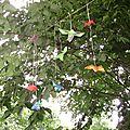 Une frondaison habitée par des oiseaux multicolores
