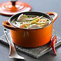 Soupe thaïe au poulet et aux crevettes façon seb