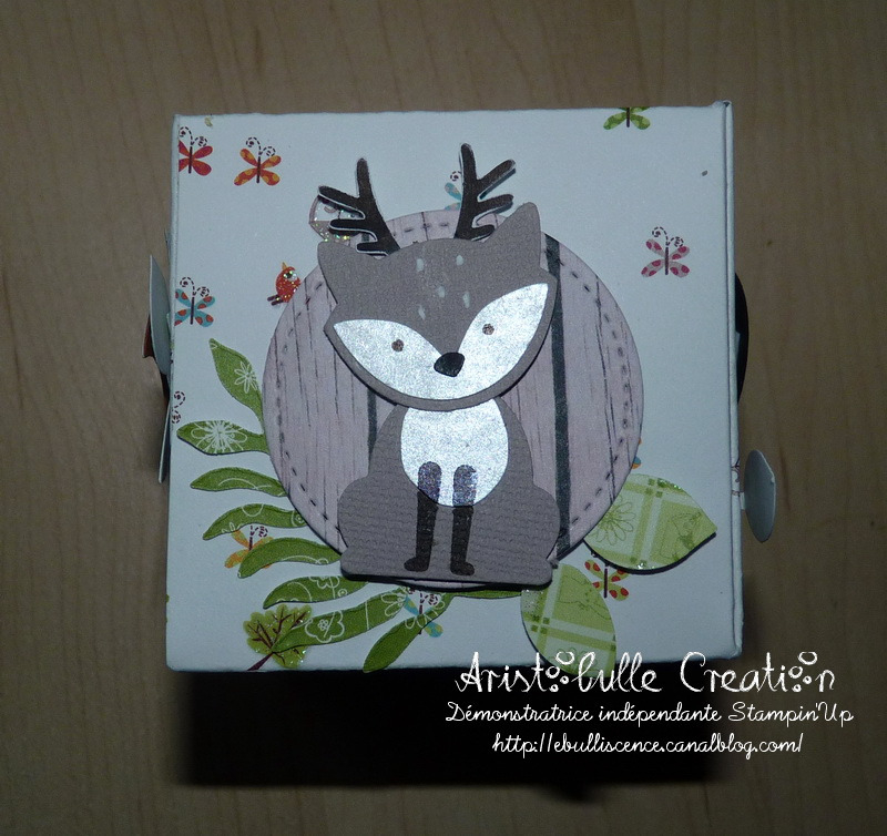 Carte cube pop up Foxy friends - face daim
