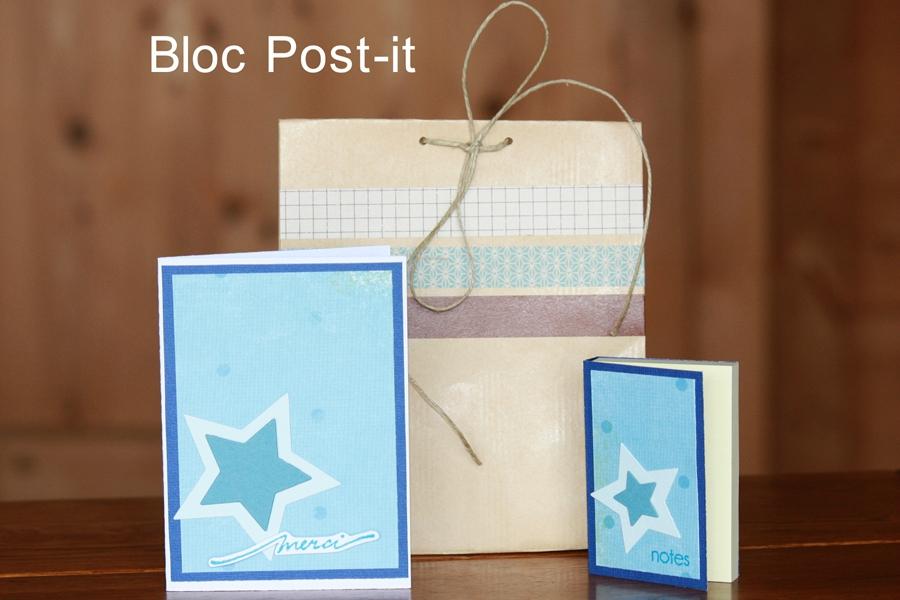 Cadeaux maitresses bloc post-it ensemble