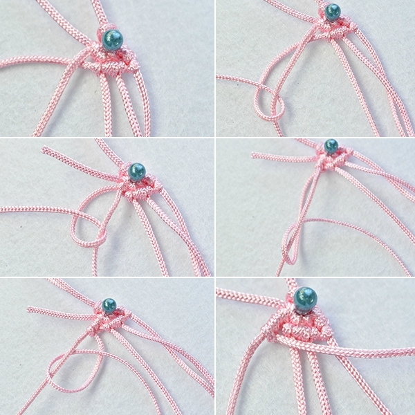 How to Make Pink and Blue Nylon Thread Butterfly Bow Friendship Bracelets6004004