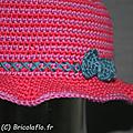 chapeau fushia, parme et bleu c