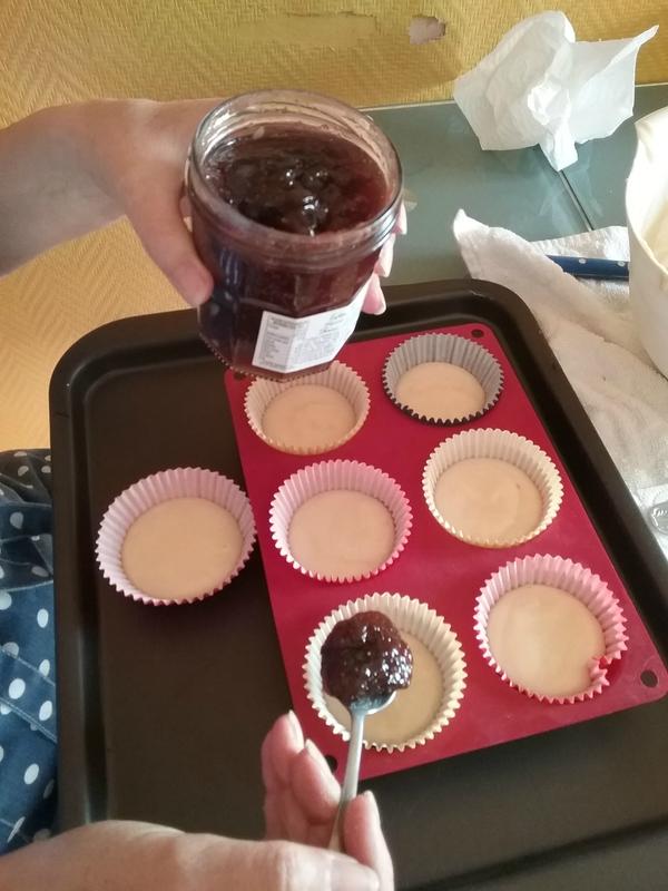 Muffins à la confiture de figues violettes 010
