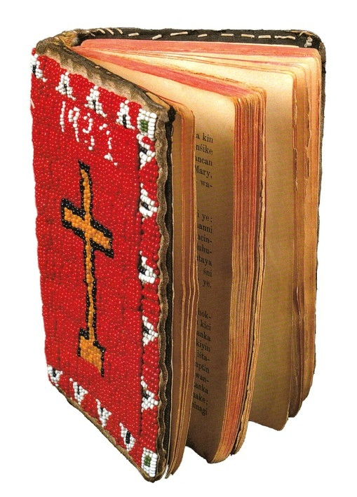 33 - Sioux beaded bible or briviary
