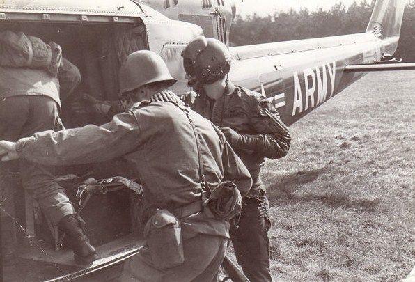 Héliportage en 1971