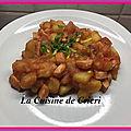 Poêlée de pommes de terre & saucisses de poulet