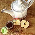 Gelée de pommes au thé noisettes/vanille