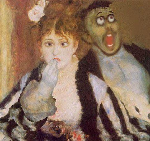 La Loge Auguste Renoir 1874 Suite Photo De Histoire Secrete Des Tableaux Celebres 6 Dessins De Renaud