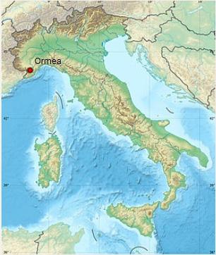 Localisation ormea
