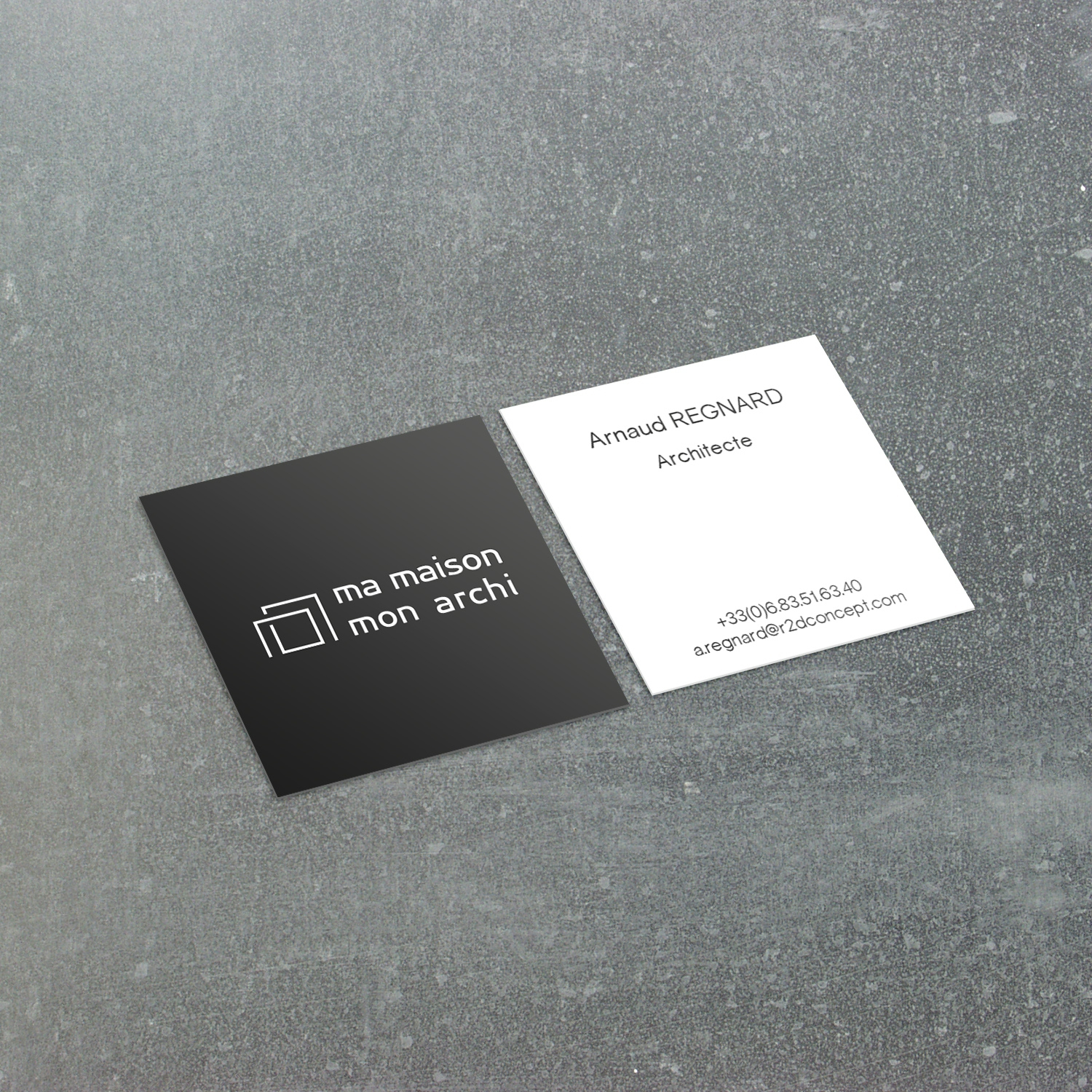 Simulation Carte De Visite Carre