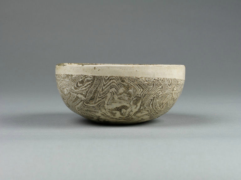 Bowl, stoneware of marbled clay, Cizhou ware, China, Northern Song dynasty, 960-1000