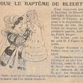 Réclame: pour le baptême de bleuette