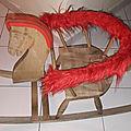 00956 cheval a bascule en bois marque inconnue