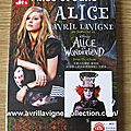 DVD Alice by Avril Lavigne-Asie (2010)