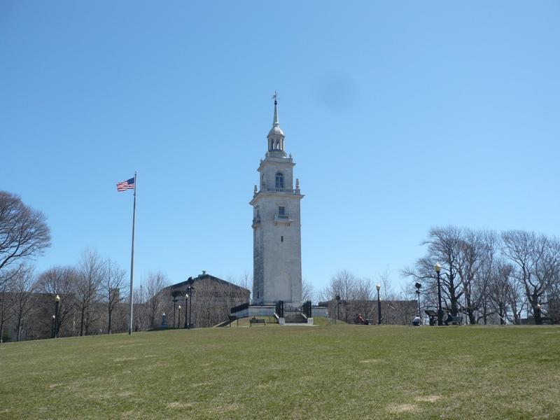 Le monument pour rappeler que Washington a fait quelque chose près d'ici...