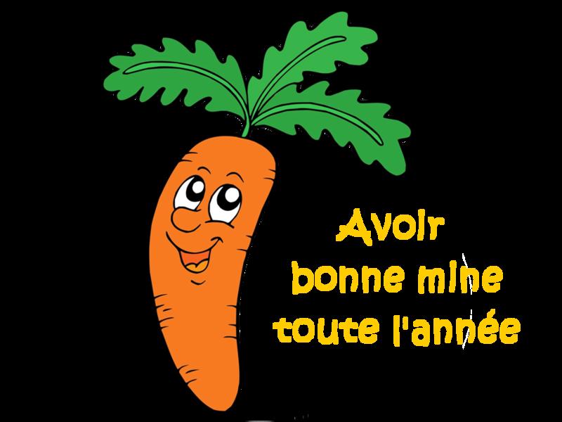 carotte bonne mine