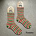 Roselaine chaussettes de Noël Candy cane