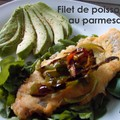 Filets de poisson au parmesan et à l'avocat