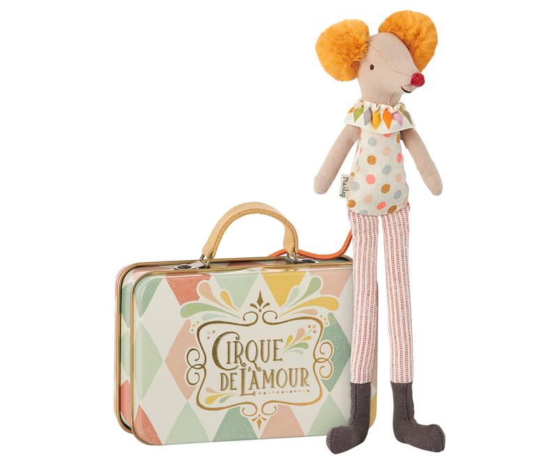 Souris clown dans sa valise 24 euros