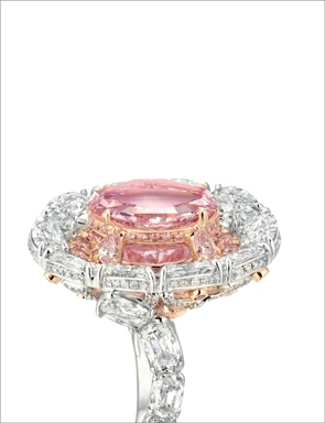 The Secret Pink Featuring To The Top Is A 4 23 Carat Internally Flawless Antique Golconda Type Fancy Vivid Purplish Pink Diamond Sheltered Another