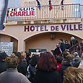 Charlie hebdo: rassemblement à gignac et marche silencieuse à clermont l'hérault