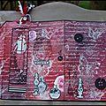 Une carte et son marque-page intégré (crafty individuals)