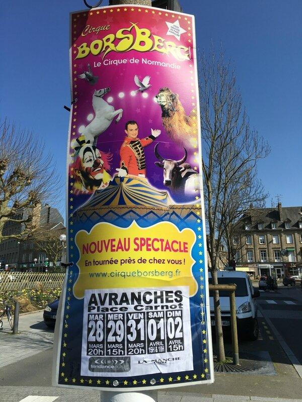 cirque Karl Borsberg Avranches Normandie mars avril 2017 tournée affiche
