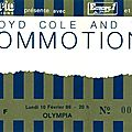 Lloyd cole & the commotions - lundi 10 février 1986 - olympia (paris)