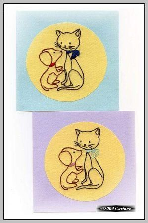 cartes brodés ( carinne )