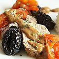 Filet mignon rôti aux pruneaux d'agen sauce crémeuse
