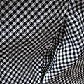 Robe HENRIETTE en coton vichy noir et blanc