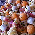 Salade fraîcheur au melon et jambon cru