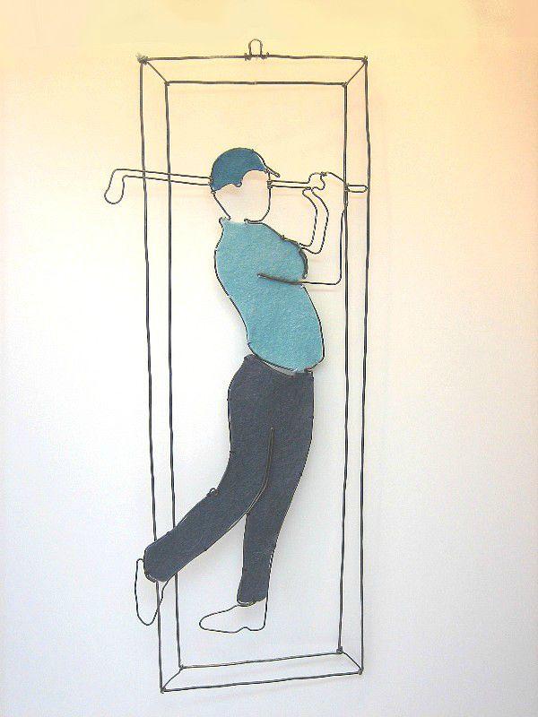 - MOBILE golfeur en fil de fer