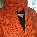 Echarpe orange Laure