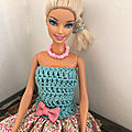 Recyclage - up cycling / barbie demoiselle fleurie