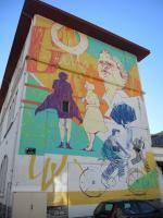 Bayonne, festival Street art Point de vue 2018, Ecole Jules Ferry, rue de l'Esté, par Untay (64)