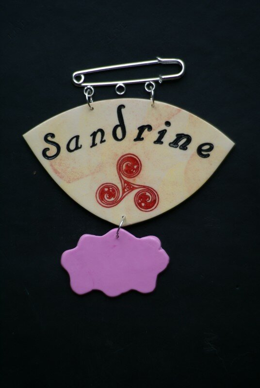 badge Sandrine/Triskelle
