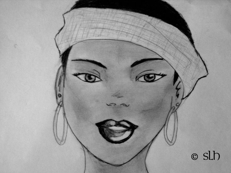Portrait noir et blanc paint 39 blog - Bouche en dessin ...