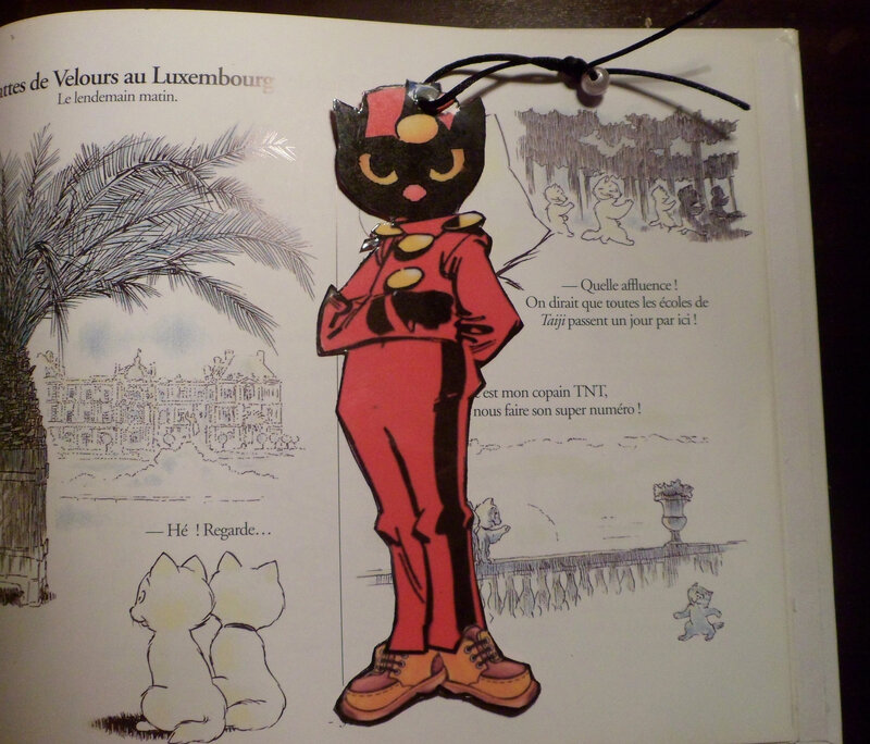 marque-page chat spirou
