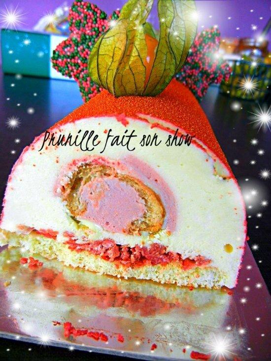 DSCbuche passion fraise valrhona prunille