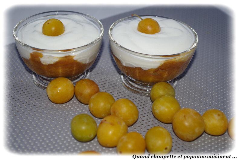 fromage blanc sur compotée de mirabelles-5955
