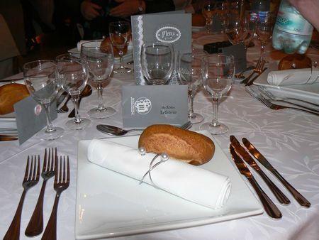 Mariage de candice déco de table