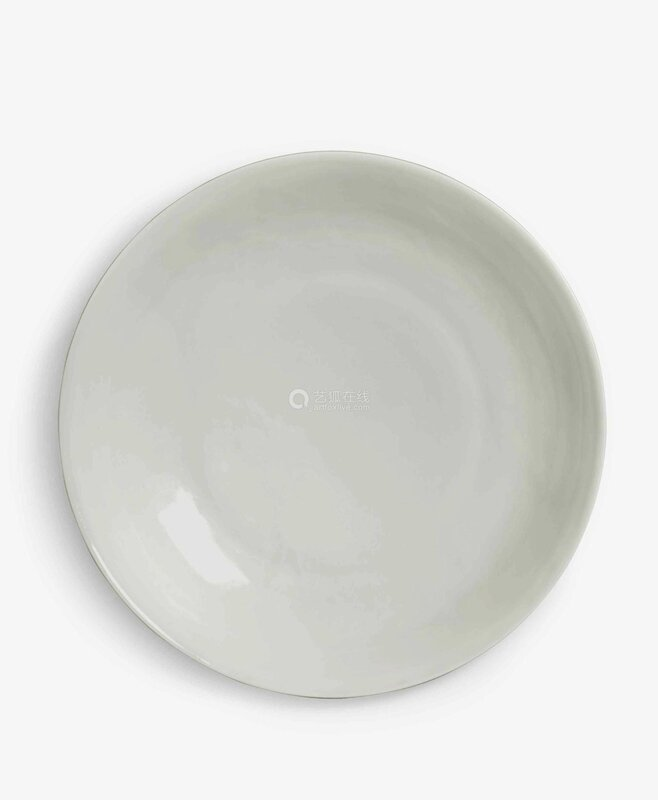 A rare anhua-decorated tianbai-glazed dish, Ming dynasty, Yongle period (1403-1424)