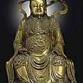 A magnificent large bronze figure of zhenwu, ming dynasty, 15th-16th century