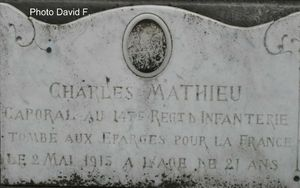 MATHIEU Charles sepulture (gros plan)