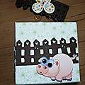 Carte cube pop up ferme - cube face 3
