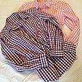 Vichy grands carreaux rose et et vichy grands carreaux violet