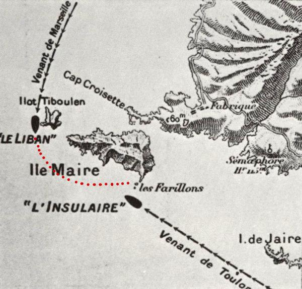 Carte naufrage Liban